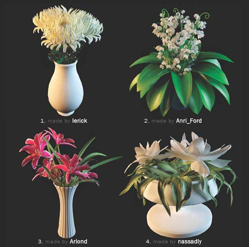 3D Models Flowers, 36 Flower Models, 3DDD