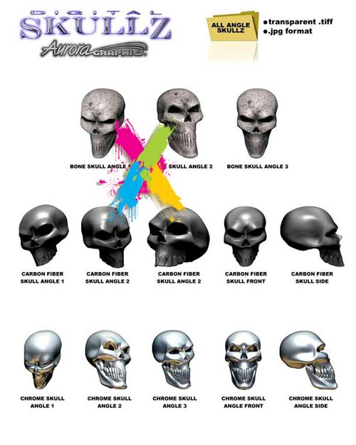 Aurora Graphics - Digital Skullz