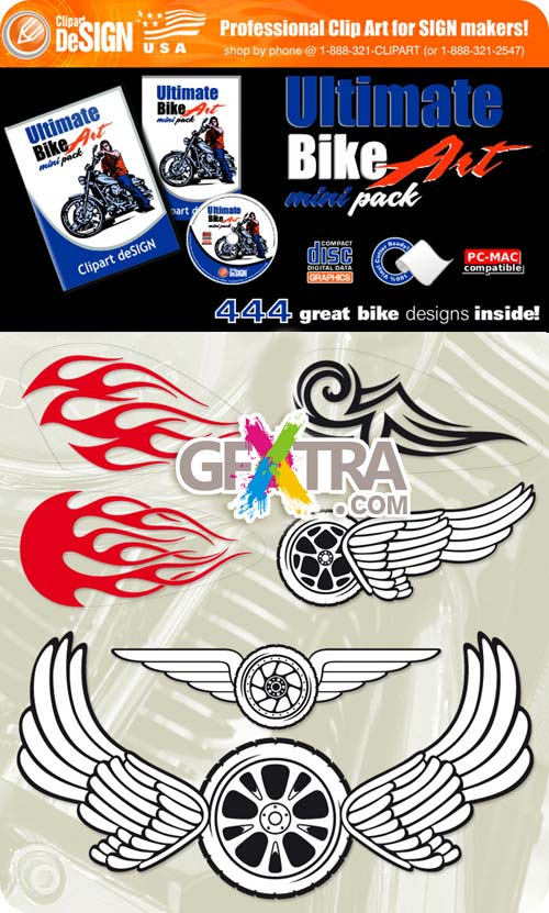 ClipArt Design - Ultimate Bike Art - Mini Pack