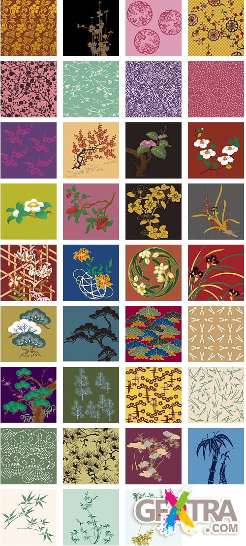 Japanese Traditional Pattern Collection 300xAI