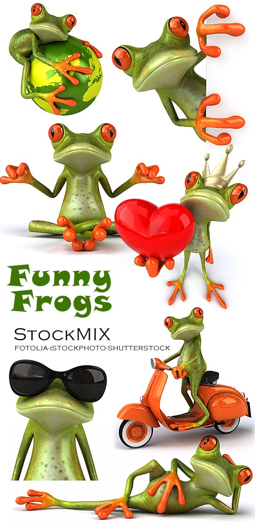 StockMIX - Funny Frogs [3D renders]