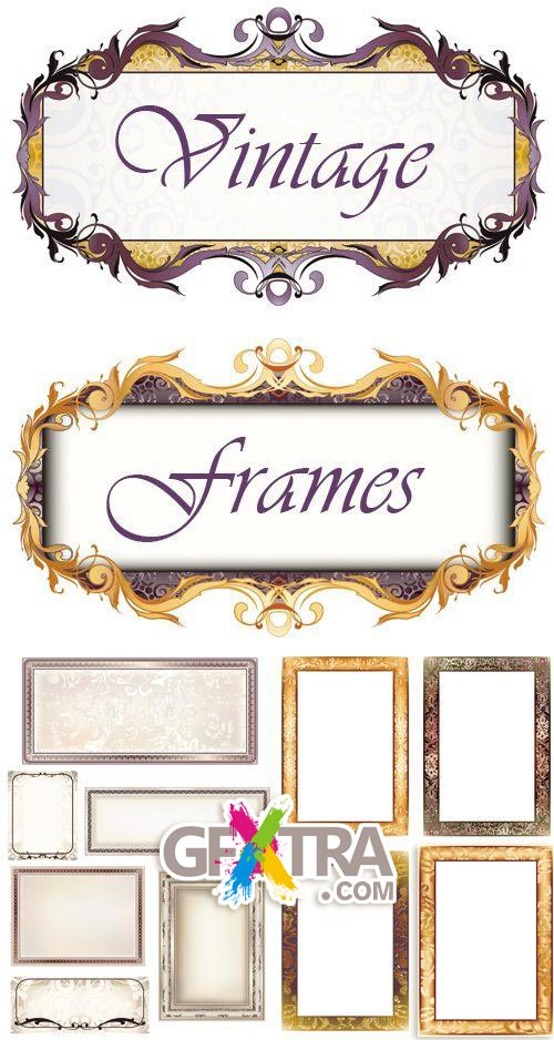 Vintage Frames 3xEPS - Vector SS