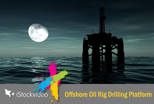 iStockVideo - Offshore Oil Rig Drilling Platform HD720