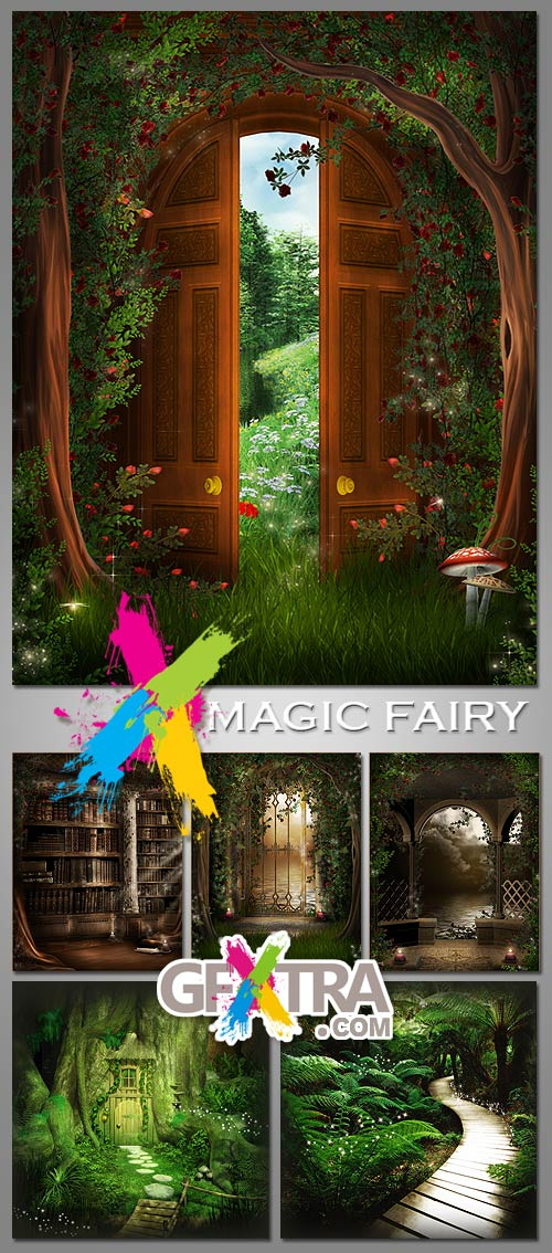 Magic Fairy Backgrounds 15xJPGs