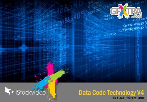 iStockVideo - Data Code Technology V4 - HD1080 Seamless Loop