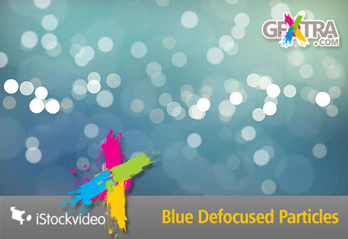 iStockVideo - Blue Defocused Particles HD1080 Seamless