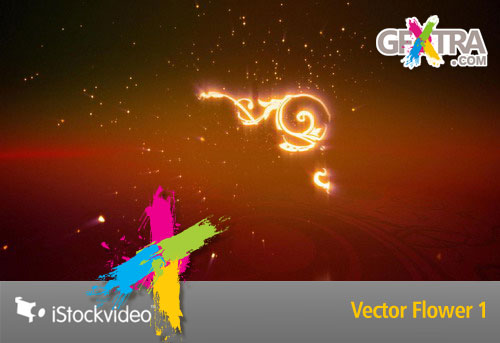 iStockVideo - Vector Flower 1 Loop HD1080
