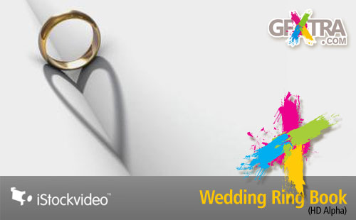 iStockVideo - Wedding Ring Book HD1080 Alpha
