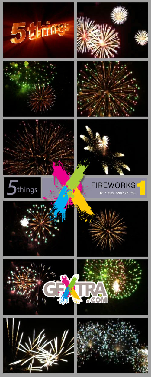 5Things - Fireworks Vol.1 12xMOV