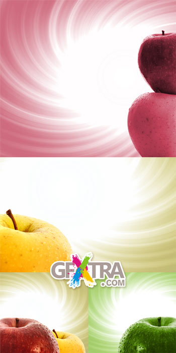 Fresh Apple Backgrounds 5xJPG images