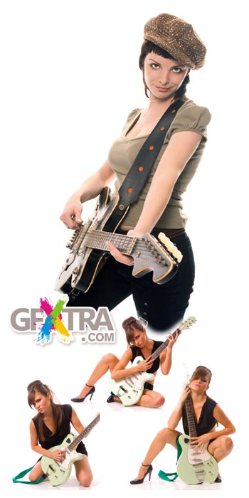 Girl with guitar 10xJPG images