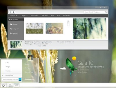 Visual Styles for Windows 7 - Gaia 10