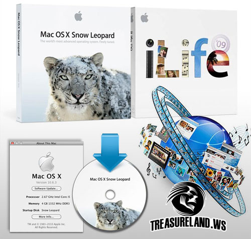 Mac OS X 10.6.3 iLife \'09 (Images of Complete Drive Mac Book Pro MC371)