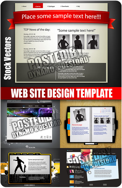 Stock Vectors - Web site design template