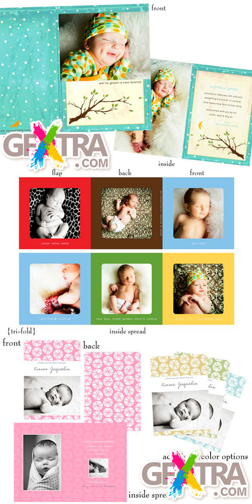 Image Garden - Urban Baby - Birth Announcements Templates