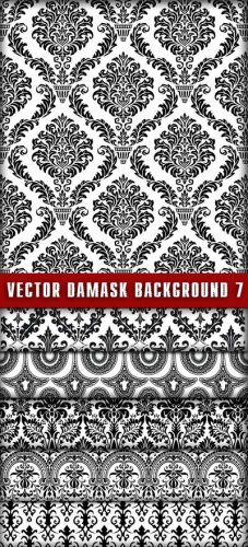 Vector Damask Background 7