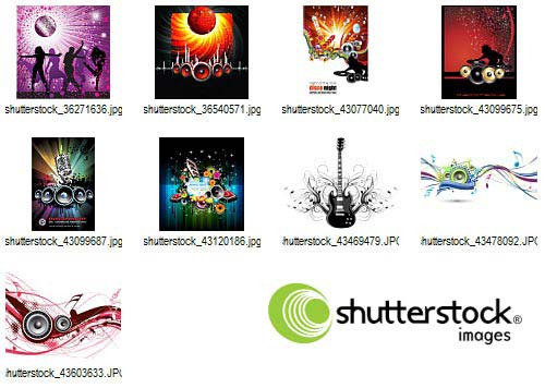 Music, Audio and Dance 225xEPS - Shutterstock