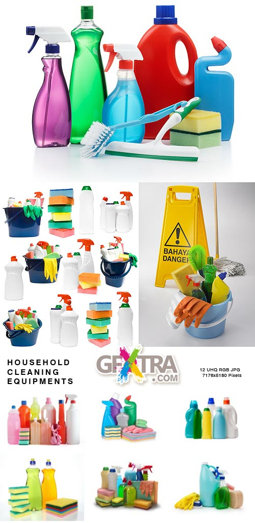 Household Cleaning Equipments 12xJPGs