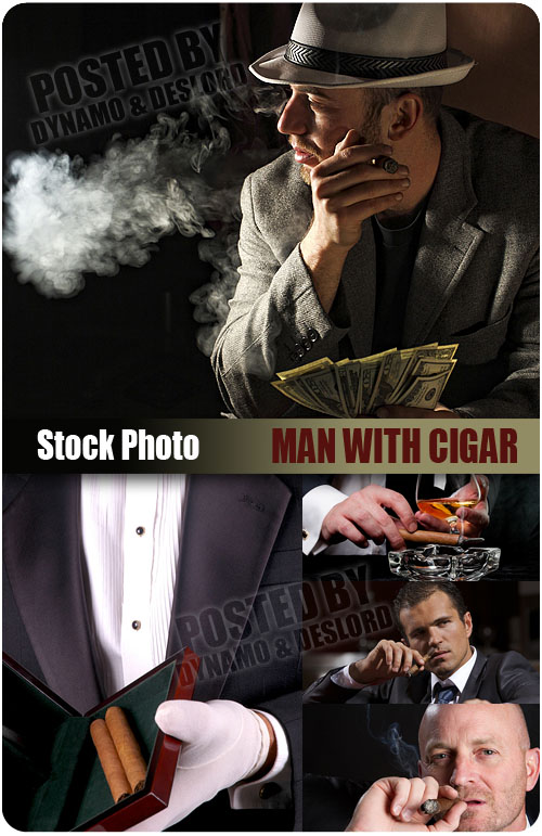 UHQ Stock Photo - Man with cigar