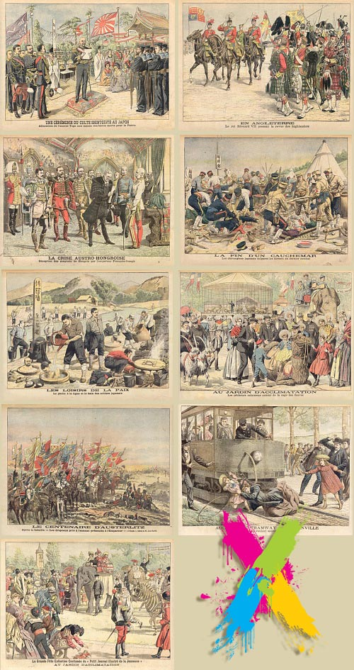 Le Petit Journal - Illustrations From History 40xUHQ Scans
