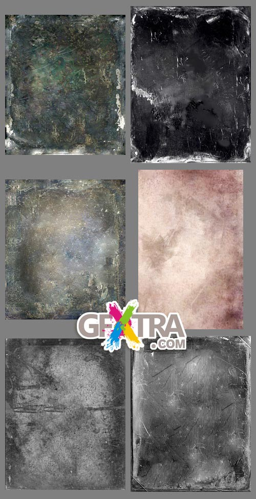 Old Grunge Photo Texture Pack 12xJPGs