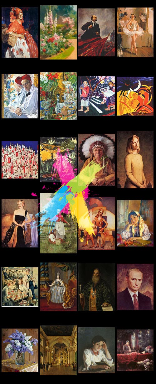 Russian and Soviet Artists - 330 Artists's Paintings 7730xJPGs with Infos