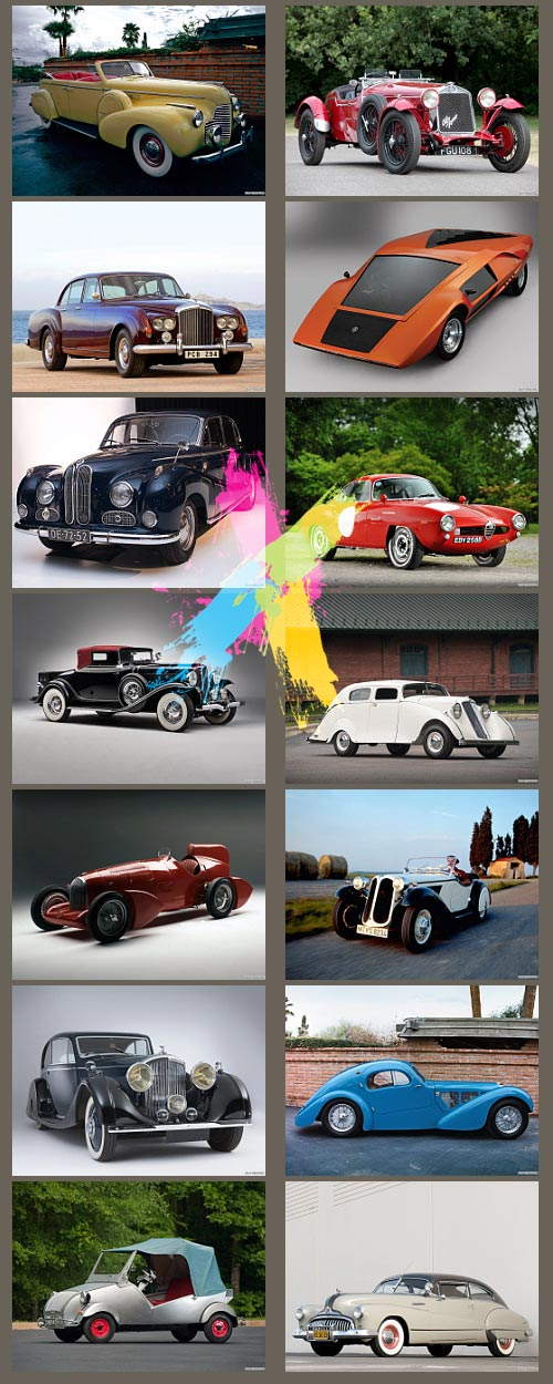 Classic Auto Images- Indexed 1200 JPGs