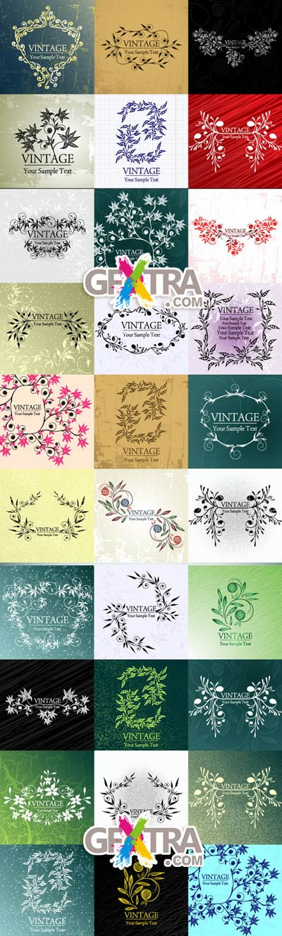 Vintage Backgrounds 5xEPS