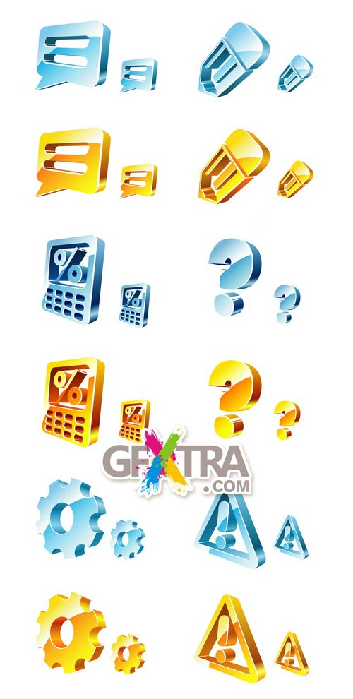 3D Icons Set1 3xEPS