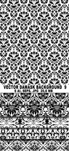 Vector Damask Background 9