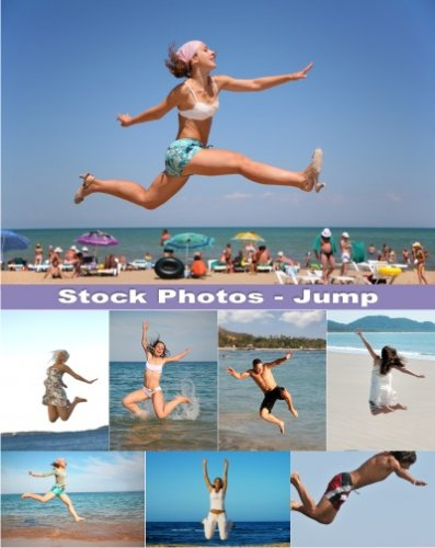 Stock Photos - Jumps on  the beach