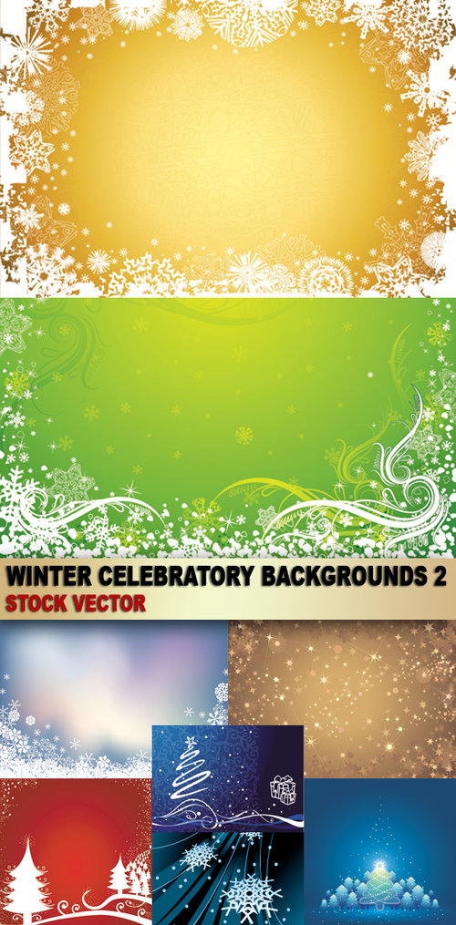 Winter celebratory backgrounds 2