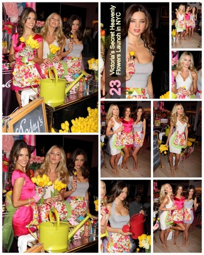 Victoria's Secret Heavenly Flowers Launch in NYC