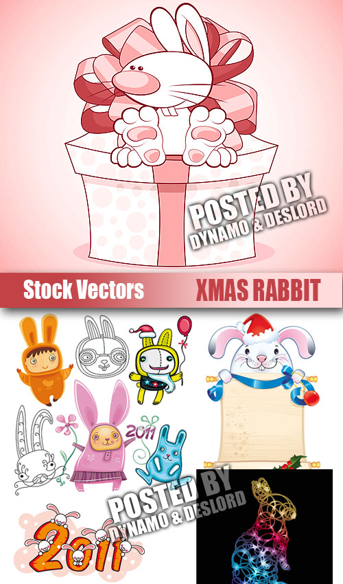 Stock Vectors - Xmas rabbit