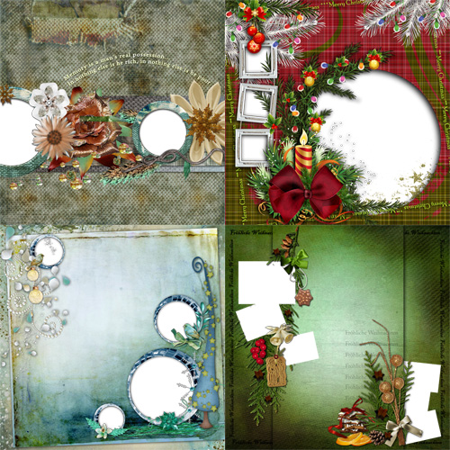 "Scrapbook page - ""Winter Holidays"""