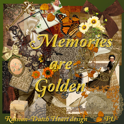 "Scrap-collection ""Golden Memories"""