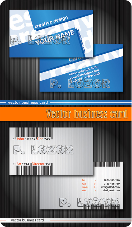 Vector Business Cards 2xEPS