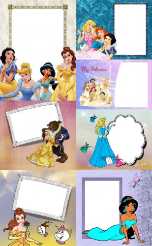 Childrens picture frames with Disney Princess