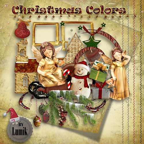 "Scrap-collection ""Colored Christmas"""