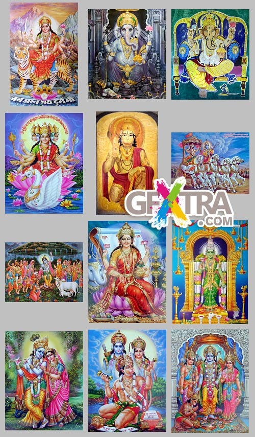 Indian Gods, 42 HQ JPGs