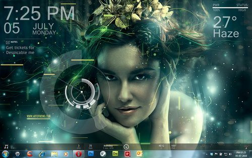 Theme for windows 7 - InsomGirl