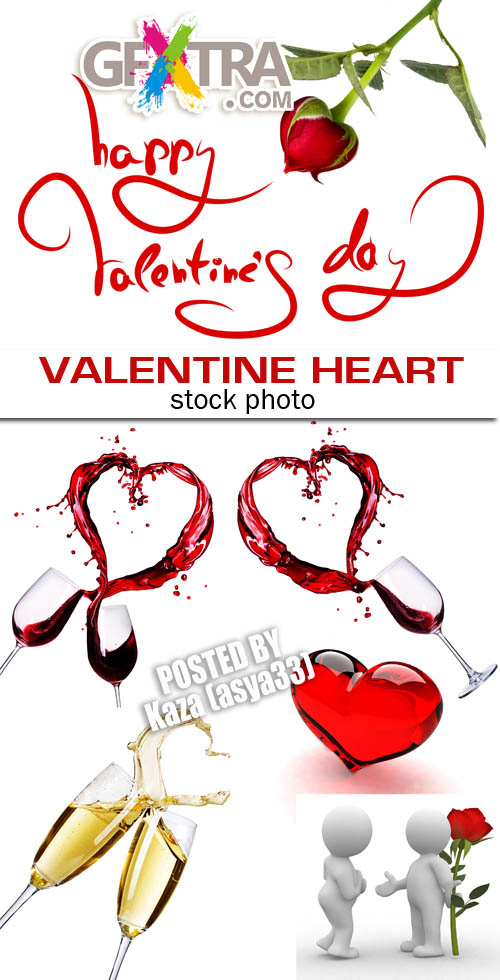 COPYRIGHT! Valentine wine & hearts