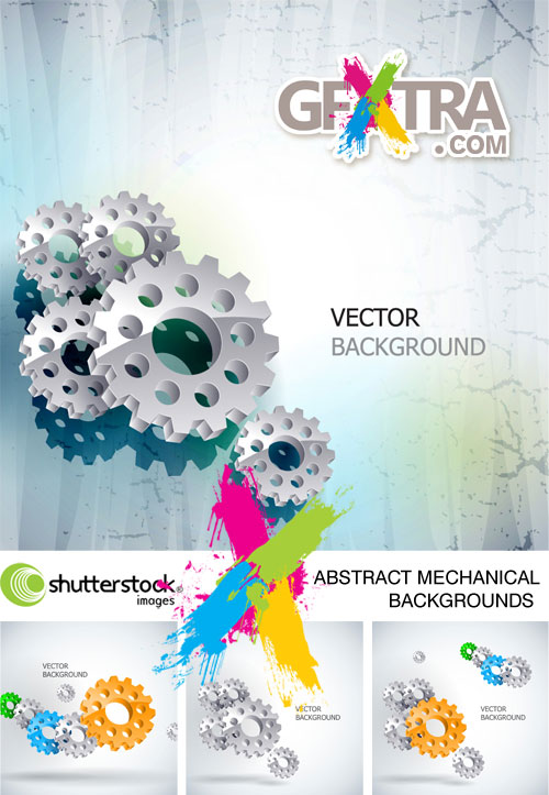 Abstract Mechanical Backgrounds 4xEPS - Shutterstock