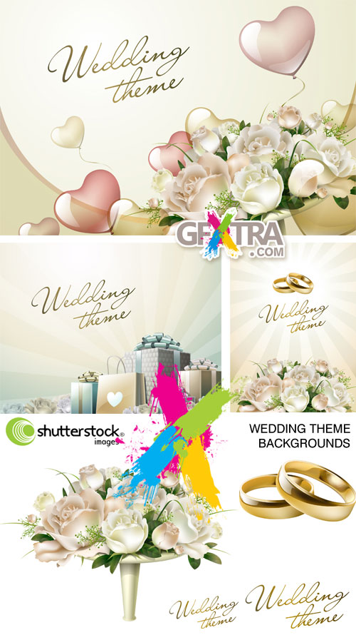 Wedding Theme Backgrounds 5xEPS - Shutterstock