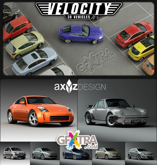 AXYZ Design - Velocity 3D Vehicles, 25 Autos