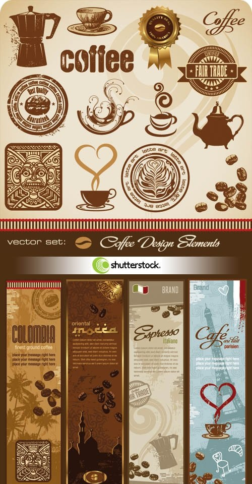 Shutterstock - Coffee Design Elements