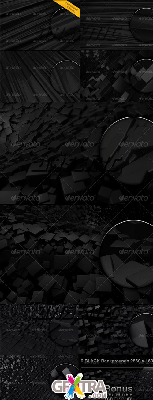 3D Black Backgrounds - GraphicRiver