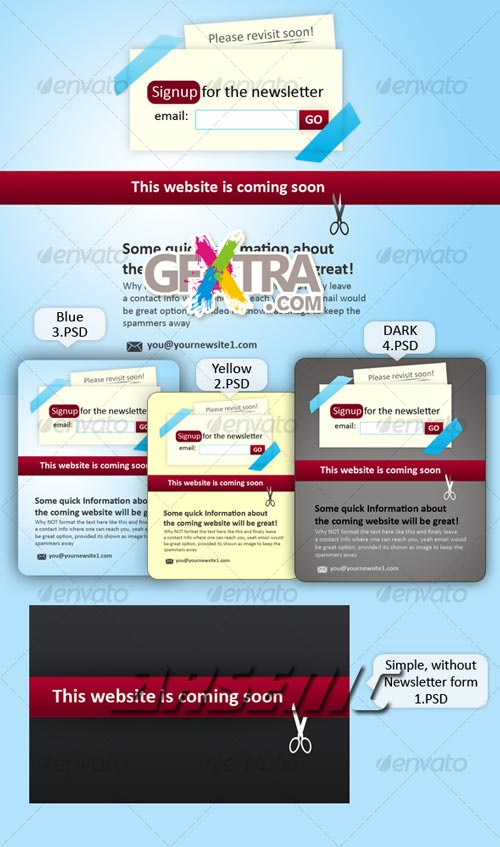 Website Coming Soon Place Holder - GraphicRiver - REUPLOADED!