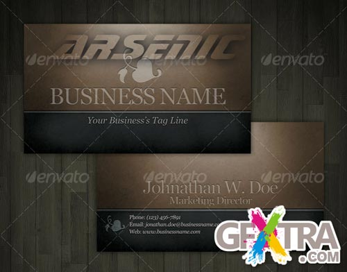 Engraved Dark Classic Business Card - GraphicRiver - REUPLODED!