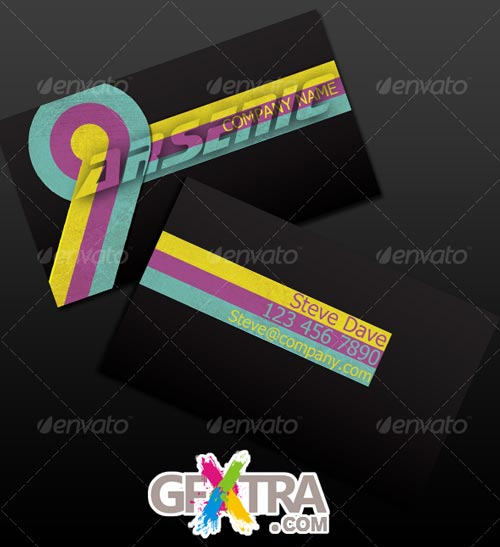 Vintage CMKY Business Card - GraphicRiver - REUPLODED!